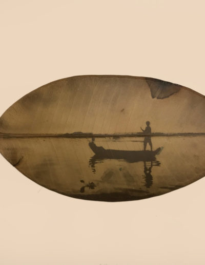 The boatman<br/>Clorofilotipo resinado / Clorophylotype cased in resin