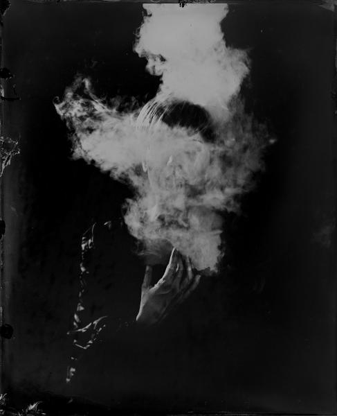 El sueño, 2018<br/>Ferrotipo. Positivo directo por colodión húmedo sobre aluminio / Wet plate collodion Tintype