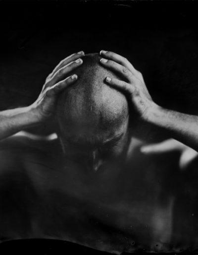 La desesperación, 2018<br/>Ferrotipo. Positivo directo por colodión húmedo sobre aluminio / Wet plate collodion Tintype