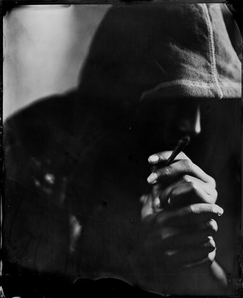 Rebeldía, 2018<br/>Ferrotipo. Positivo directo por colodión húmedo sobre aluminio / Wet plate collodion Tintype