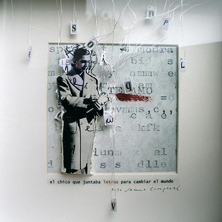 El chico que juntaba letras para cambiar el mundo<br/>Fotografía de collage / Collage photography.