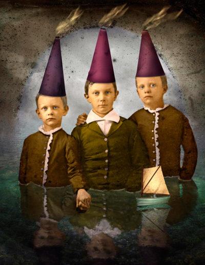 Boys with thinking caps, 2004<br/>Impresión de tintas de pigmentos / Inkjet print