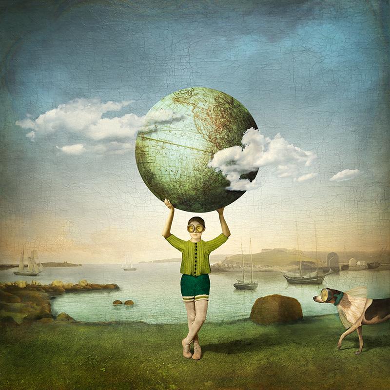 A world of her own.<br/>Impresión de tintas de pigmentos / Inkjet print