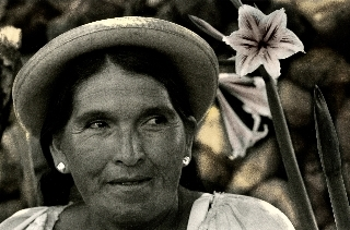 Bolivie, Tarija. Portrait d'Erlinda, 2010<br/>Impresión de tintas de pigmentos / Inkjet