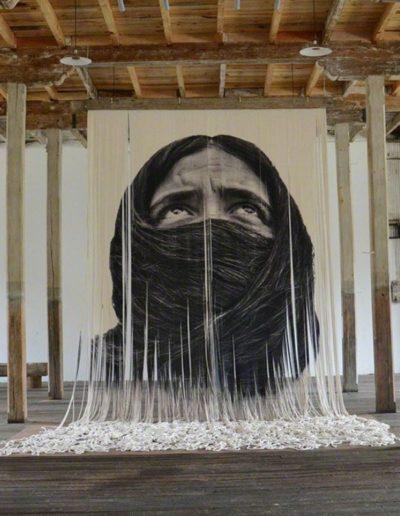 Burka, 2016<br/>Impresión digital sobre cáñamo / digital print on hemp
