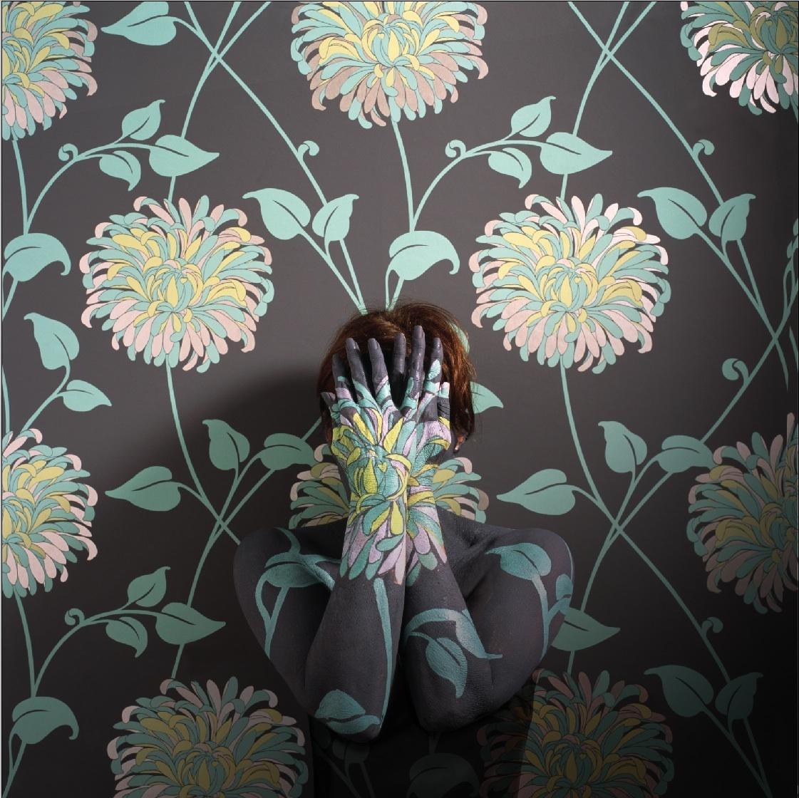 Crisantemo, 2002<br/>Impresión de tintas de pigmentos