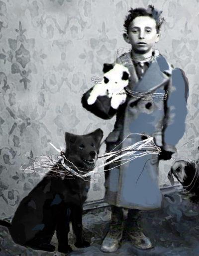 El paseante de perros, 2011<br/>Giclée