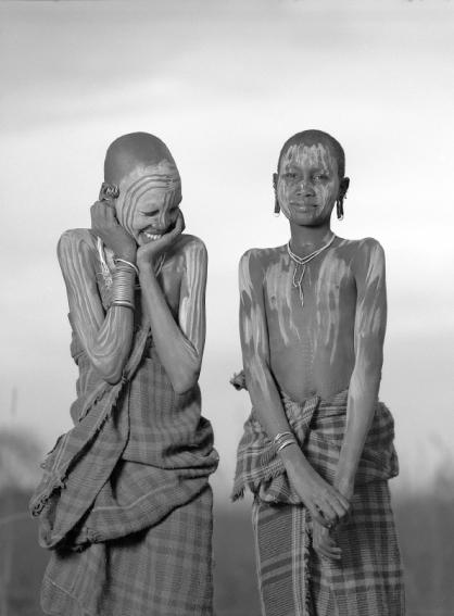 ET001. Tribu Surma. Serie Surma. Etiopía, 2002<br/>Platinotipia / Platinum