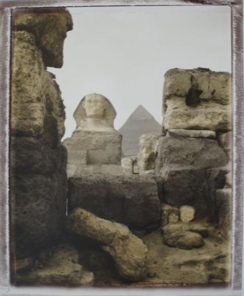 Egypte, Sphinx<br/>Impresión de tintas de pigmentos / Inkjet