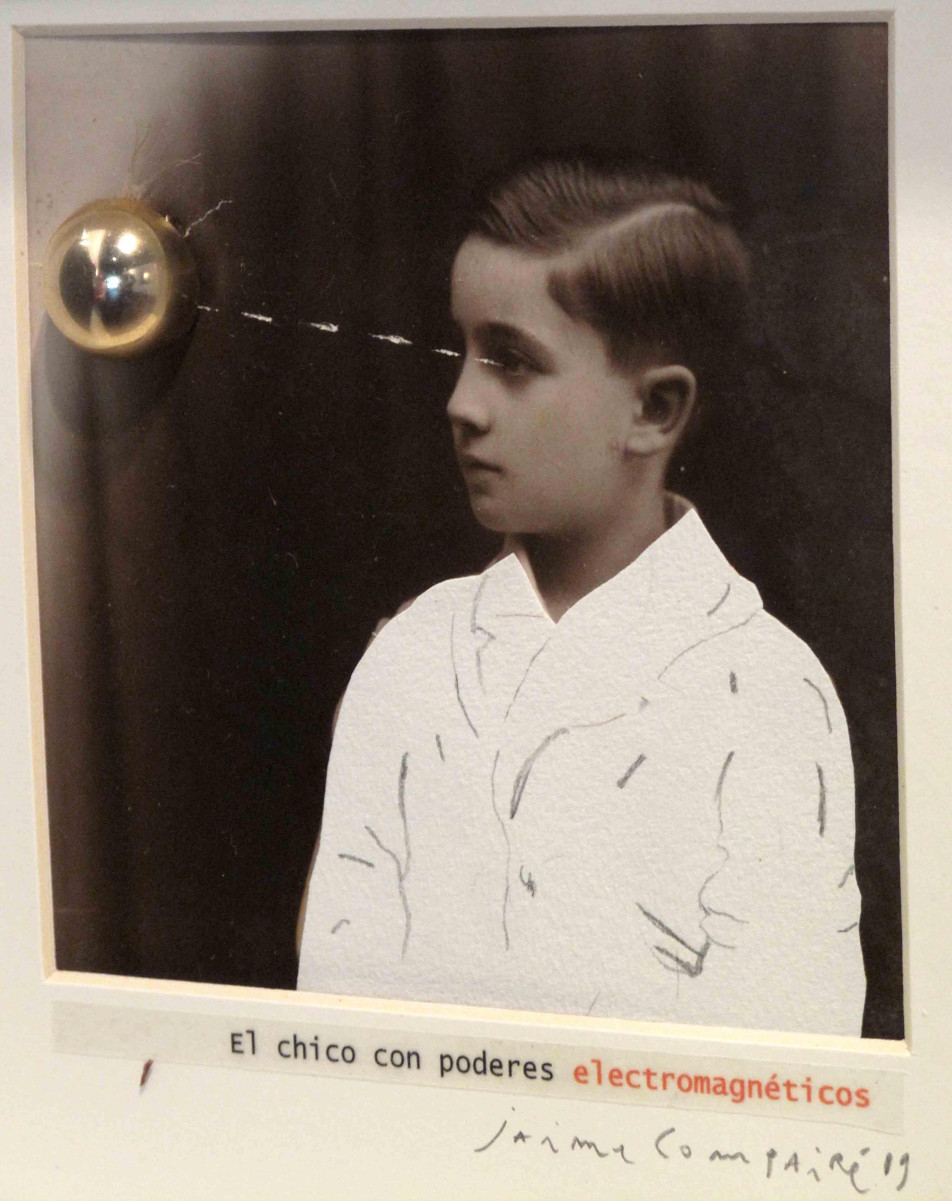 El chico con poderes electromagneticos<br/>Fotografía de collage / Collage photography.