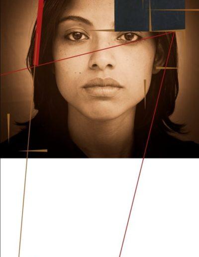 Möbius, 2014<br/>Fotografía digital sobre fieltro, Metacrilato y plot / Digital photograph on felt, methacrylate and plot
