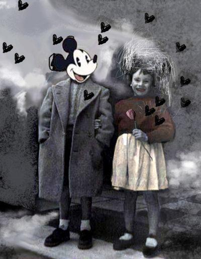 Minnie está por Mickey, 2011<br/>Giclée