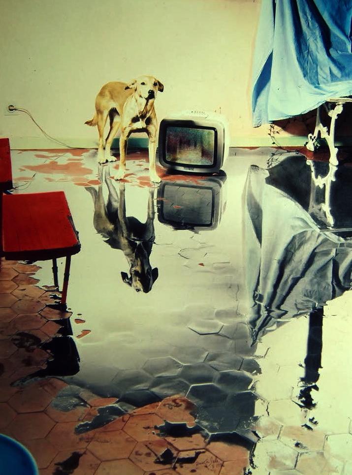 Me levanto por la mañana, hay un gran charco en mi casa, 1986<br/>Tintas pigmentadas / Inkjet