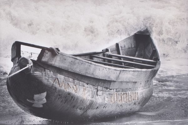 Pirogue Ashanti. C.I, 2000<br/>Impresión de tintas de pigmentos / Inkjet