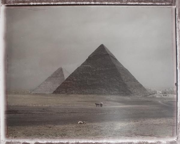Pyramide de Giseh. Caire, février 2003<br/>Impresión de tintas de pigmentos / Inkjet