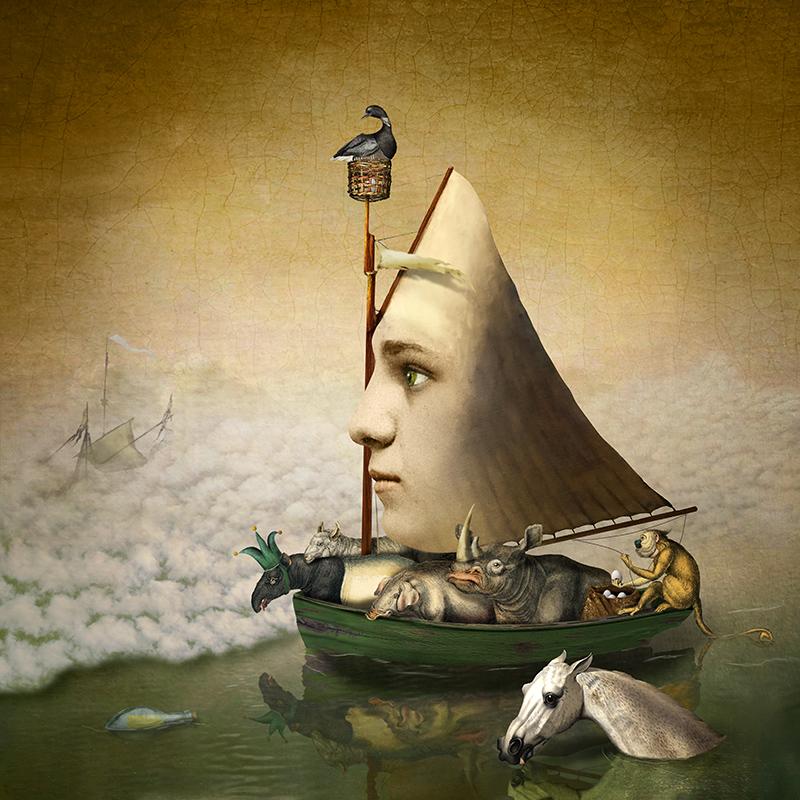Ship of fools.<br/>Impresión de tintas de pigmentos / Inkjet print