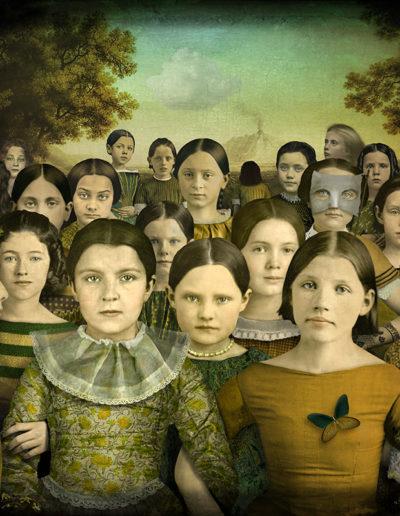 The girls.<br/>Impresión de tintas de pigmentos / Inkjet print