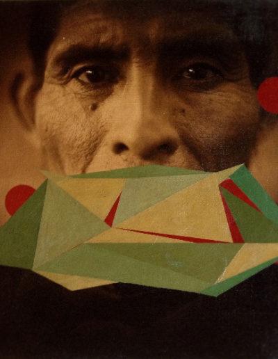 S/T, 2014<br/>Fotografía impresa en canvas, pintada a mano / Photograph printed on canvas. Hand painted