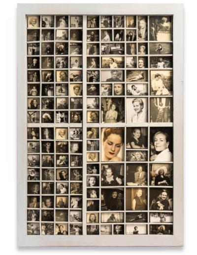 Una vida, 2013<br/>Instalación de caja madera con fotografías / Wood installation with photos