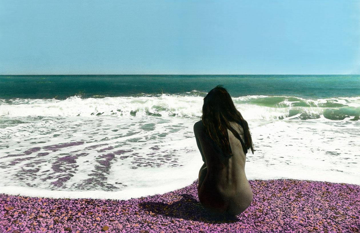 Aphrodita frente al mar<br/>Gelatina de plata coloreada / Silver gelatin hand coloured