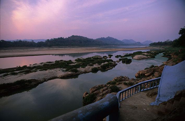 Atardecer en el Río Mekong. Luang Prabang. Laos. 2007<br/>Impresión de tinta / Inkjet