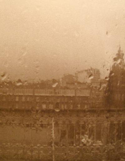 Chuvia en Mª Pita A Coruña, 1988<br/>Gelatina de plata / Silver gelatin