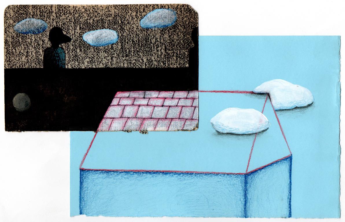 Sin título, 2012<br/>Dibujo. Técnica mixta. 17x27 cm