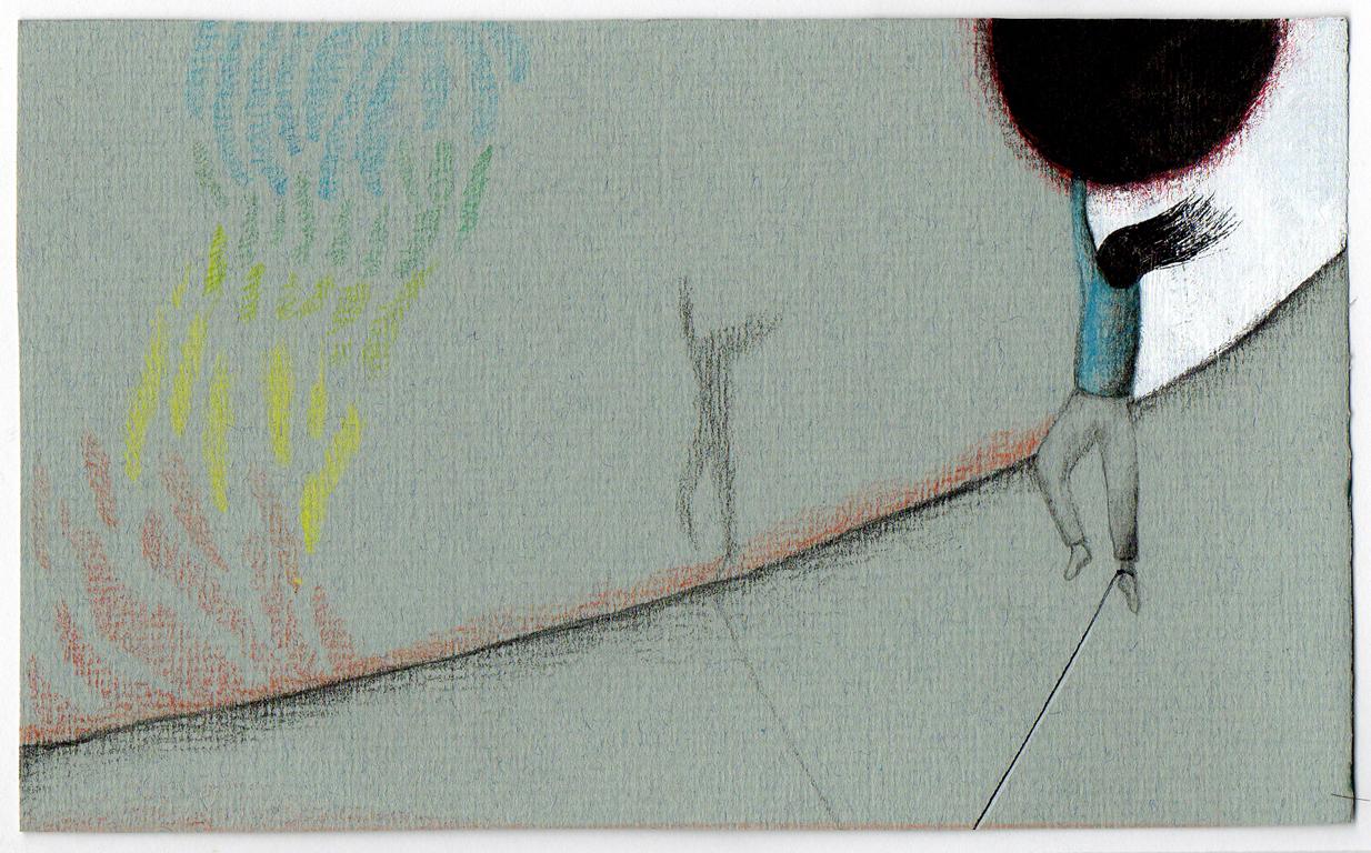 Sin título, 2012<br/>Dibujo. Técnica mixta. 9x15 cm