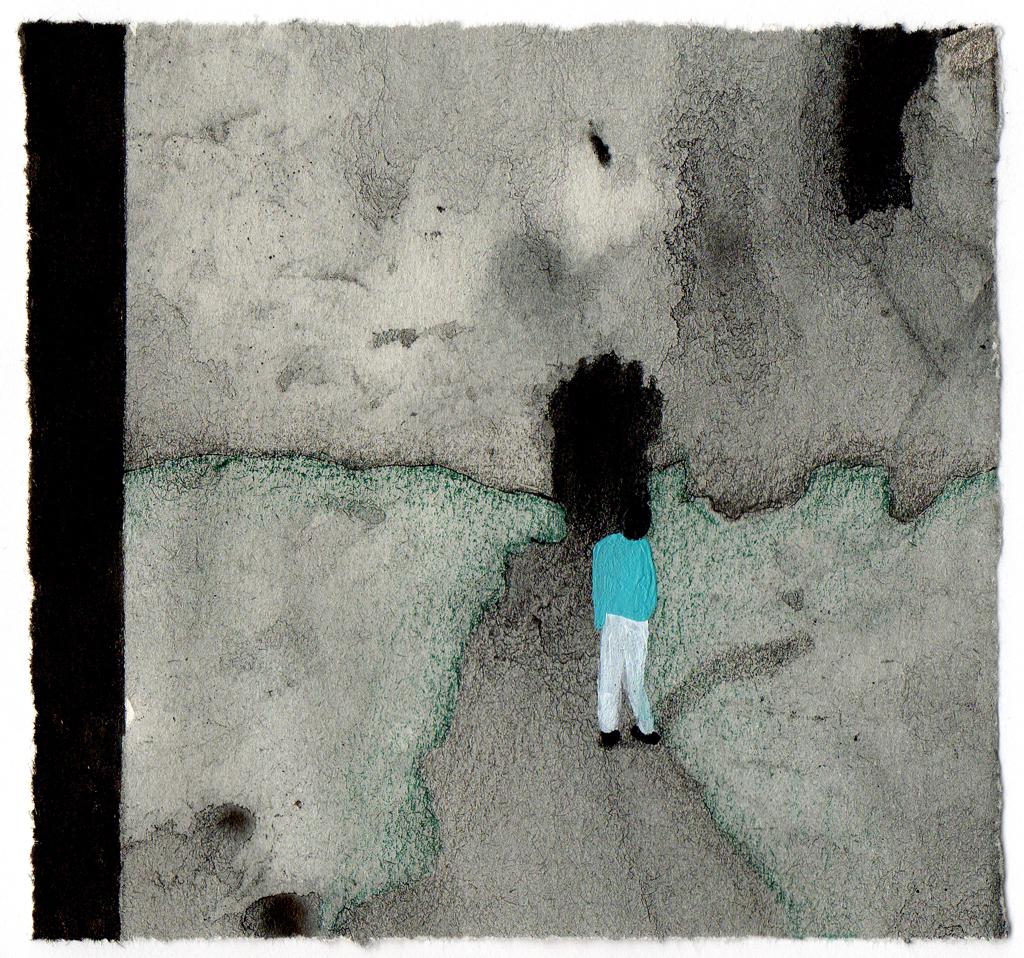 Sin título, 2012<br/>Dibujo. Técnica mixta. 10x11 cm