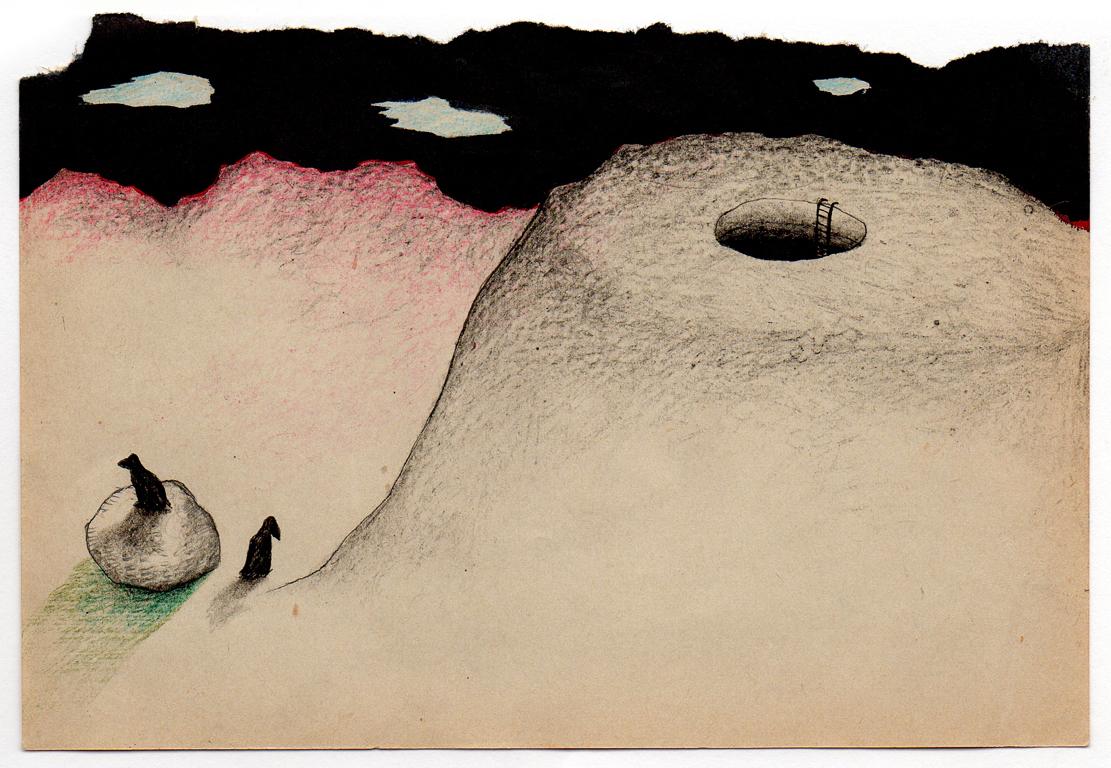 Sin título, 2012<br/>Dibujo. Técnica mixta. 11x15 cm