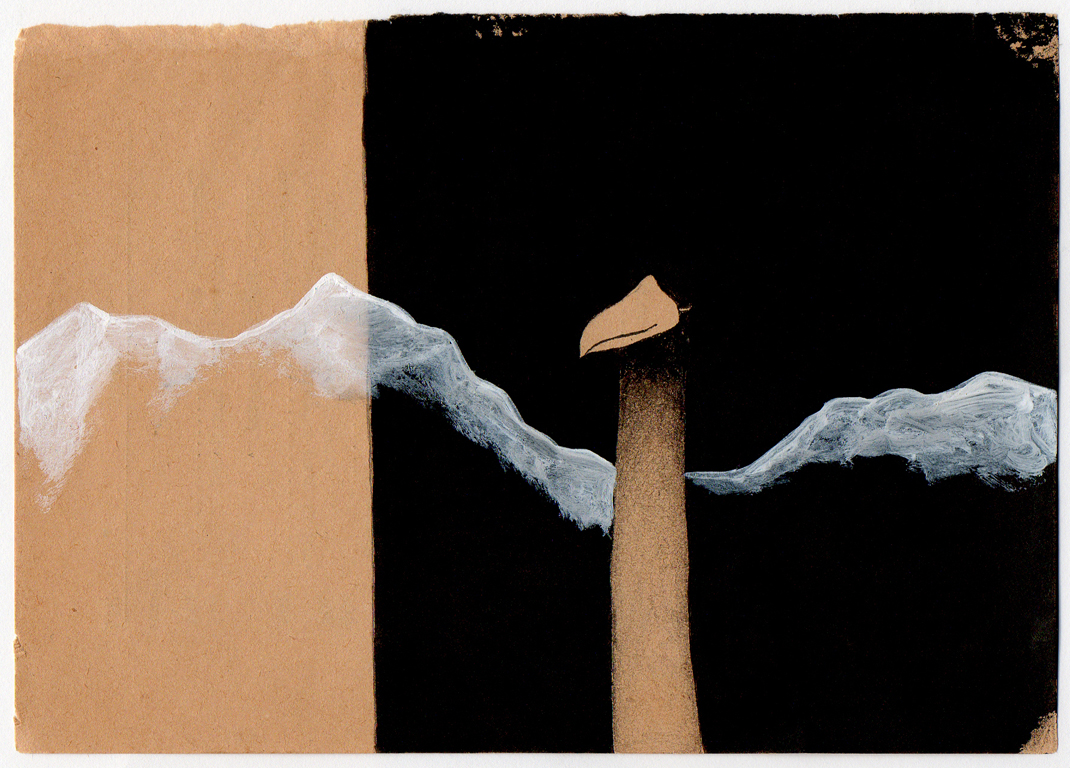 Sin título, 2012<br/>Dibujo. Técnica mixta. 10x15 cm