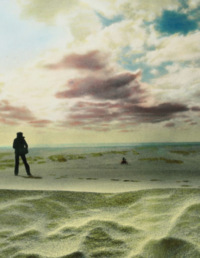En un desierto de arena, 1979<br/>Gelatina de plata coloreada / Silver gelatin hand coloured