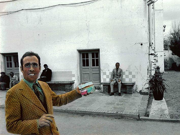Encuentros IV, 1976<br/>Original coloreado a mano con acuarela / Watercolor hand coloured original