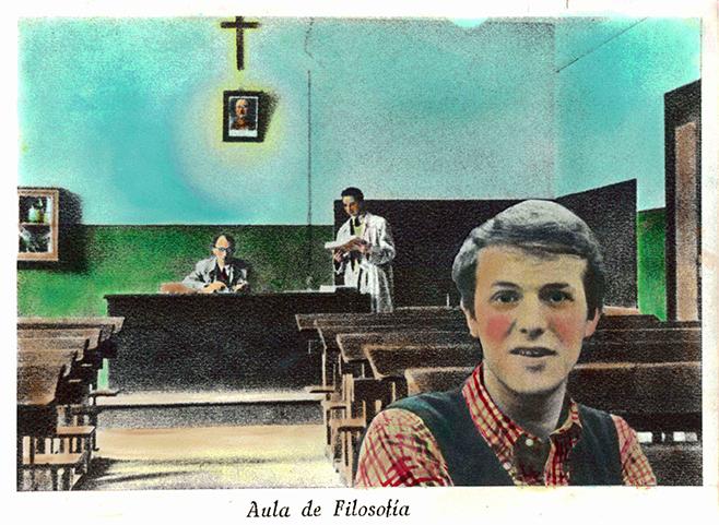 Enseñanza II, 1976<br/>Original coloreado a mano con acuarela / Watercolor hand coloured original