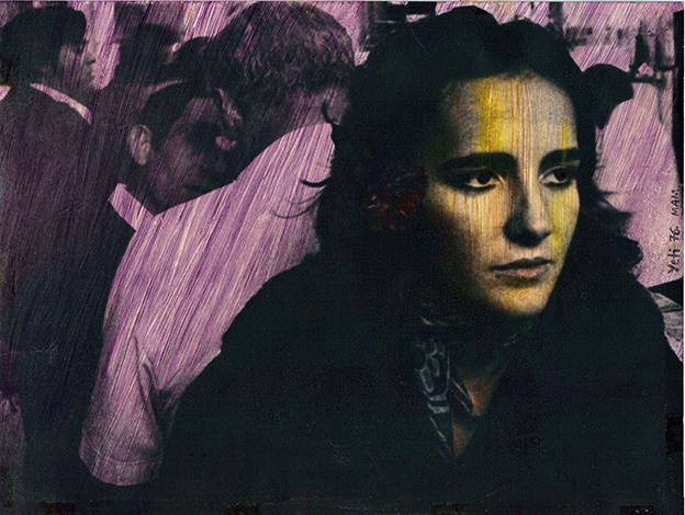 Retrato II, 1976<br/>Original coloreado a mano con acuarela / Watercolor hand coloured original