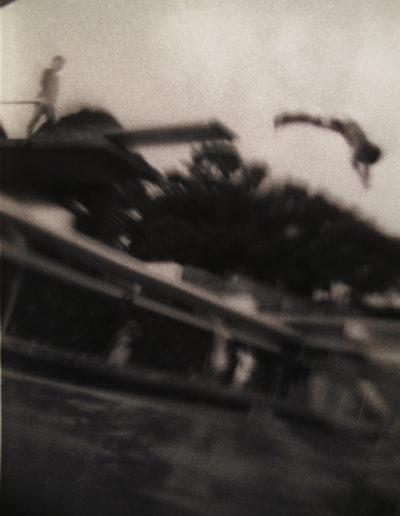Salto de trampolín, 1990<br/>Gelatina de plata / Silver gelatin