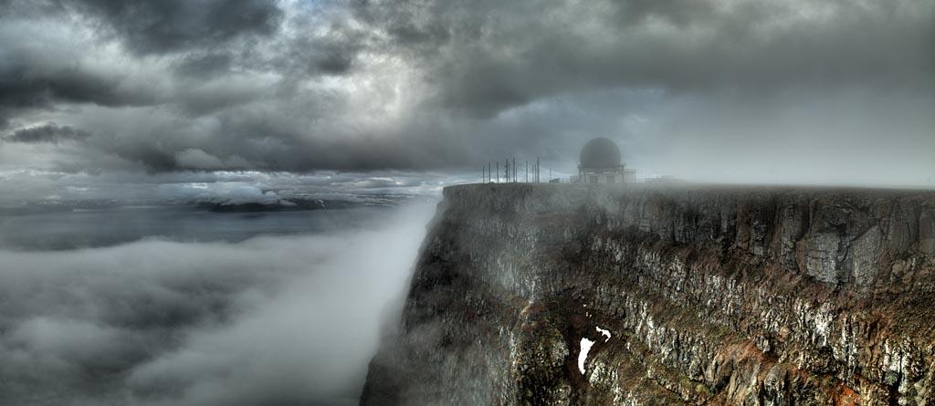 Radar Station by the Cliff, 2007 Icelandl<br/>