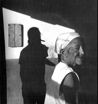 Algaze, Mario. Mira Quien Viene, Santiago, Cuba. 1999 printed in 2000. Unique print in this size<br/>