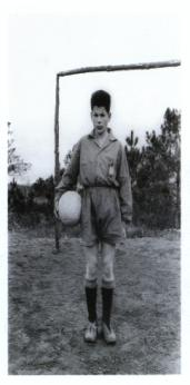 Virxilio Viéitez. O futbolista. Soutelo de montes, 1962<br/>