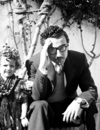 Bartolomé Ros Amador. Rosa Ros Amador, Alberto Ros y un amigo. Tánger, 1948<br/>