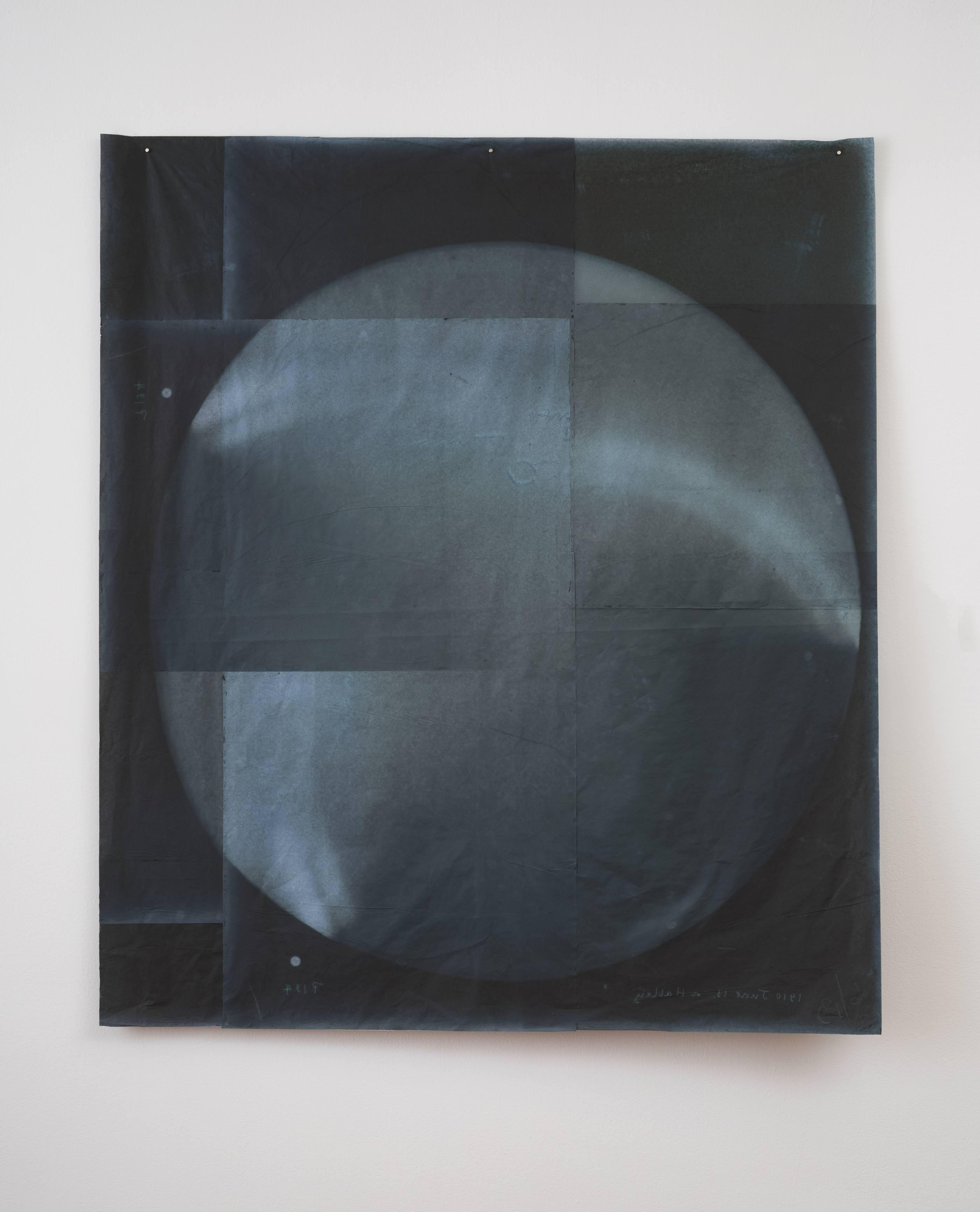 Cometa Halley. Serie Koan, 2016<br/>Impresión digital sobre papel cebolla. 150 x 150 cm Ed. 5