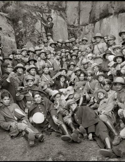 Guardias civiles en Sacsaywaman, 1928<br/>