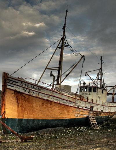 Barco encallado y pasarela, 2006<br/>Impresión giclée / Inkjet print