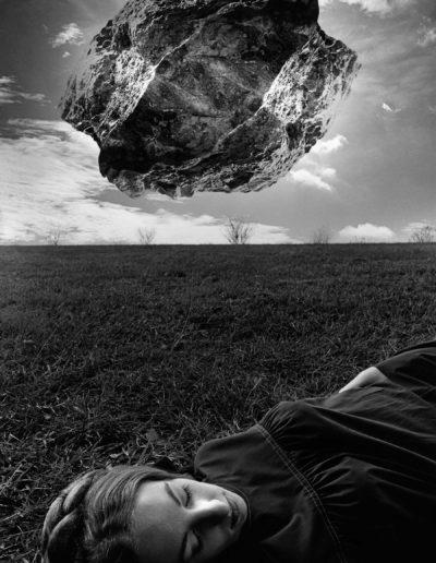 Jerry Uelsmann. Magritte's Touchstone, 1965<br/>Gelatina de plata con tratamiento de archivo