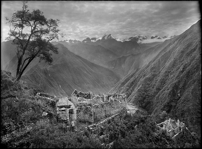 Vista parcial de Wiñay Wayna, 1941<br/>