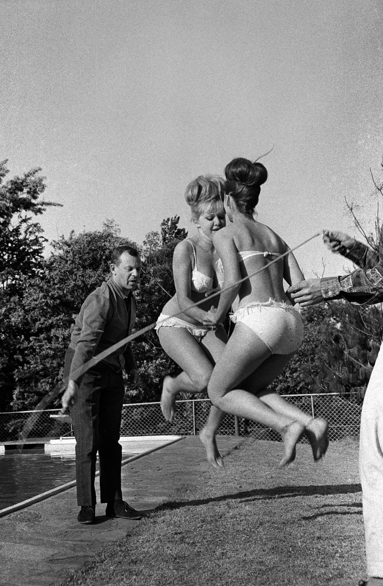 Skipping by the pool, Johannesburg, 1960<br/>