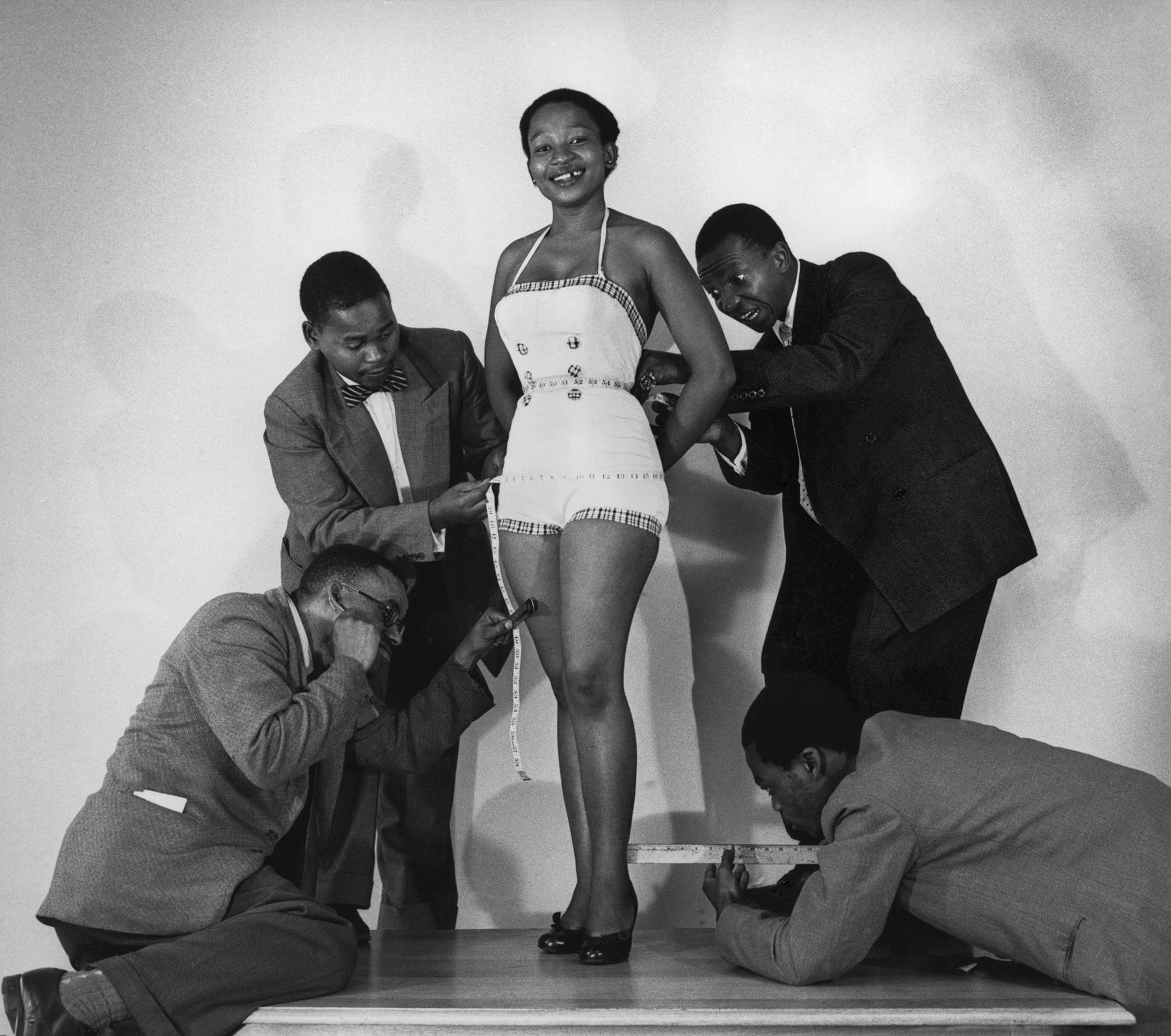 Measuring up for Drum cover, Johannesburg, 1955<br/>