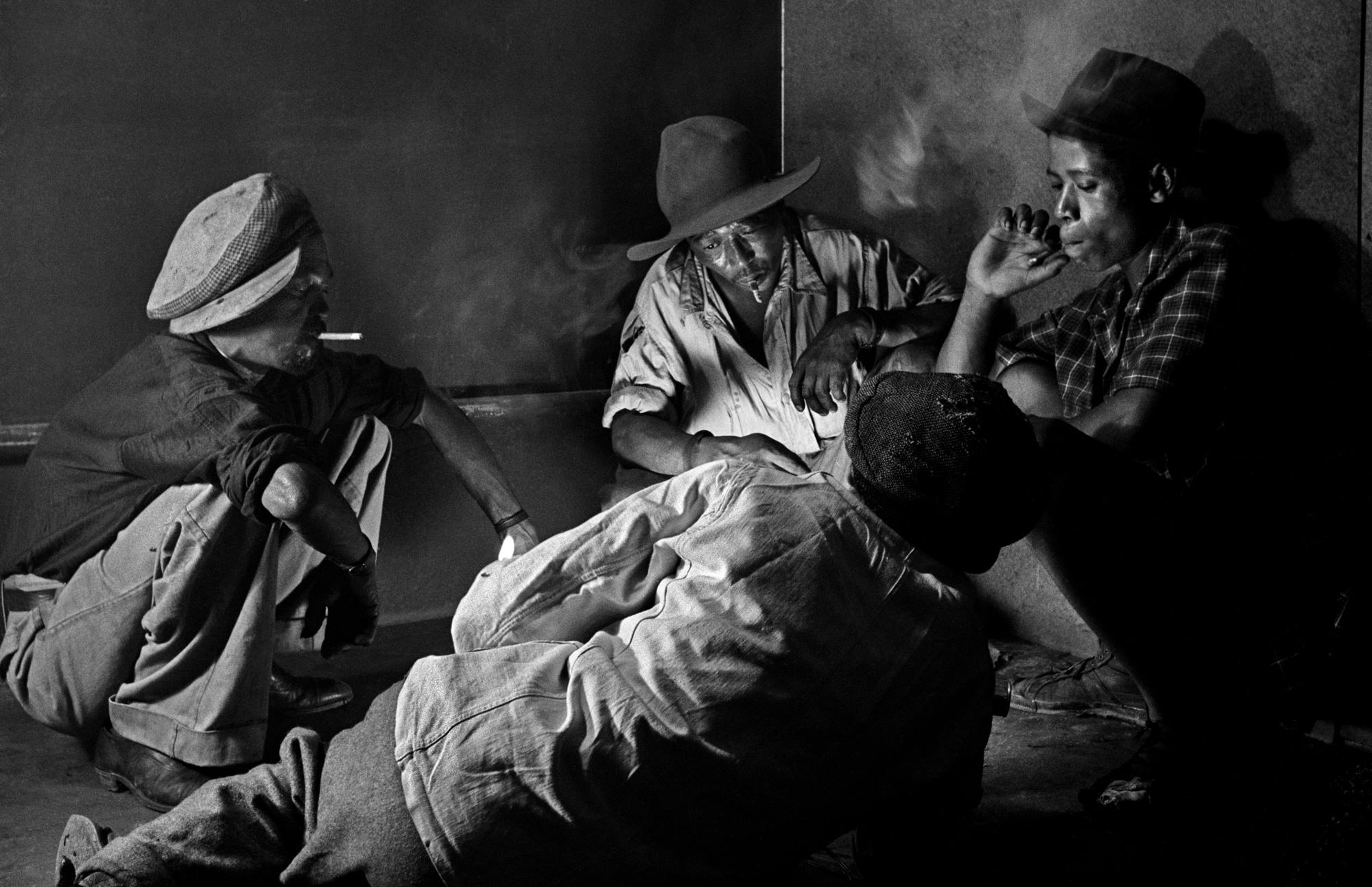 The gambling quartet, Sophiatown, 1955<br/>