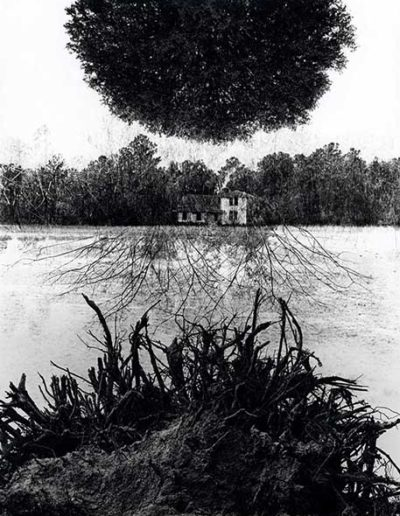 Jerry Uelsmann. Poet's House, 1965<br/>Gelatina de plata con tratamiento de archivo