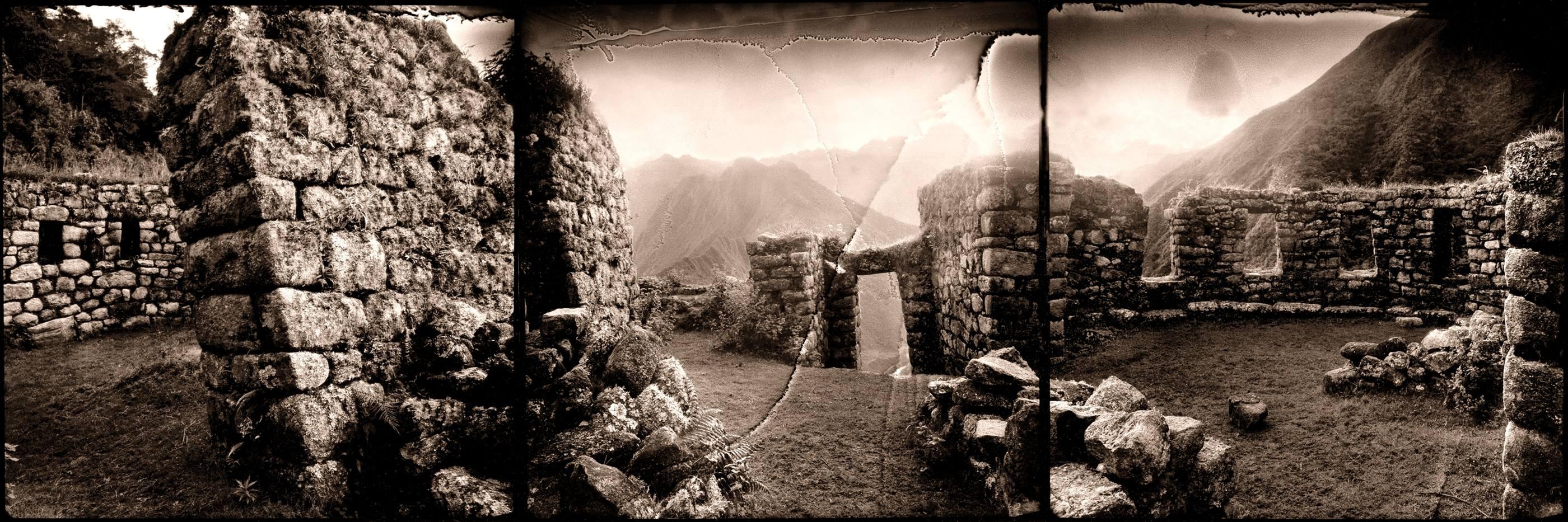 Templo del sol. Wiñay-Wayna.1994<br/>Virado de oro / Golden Toner